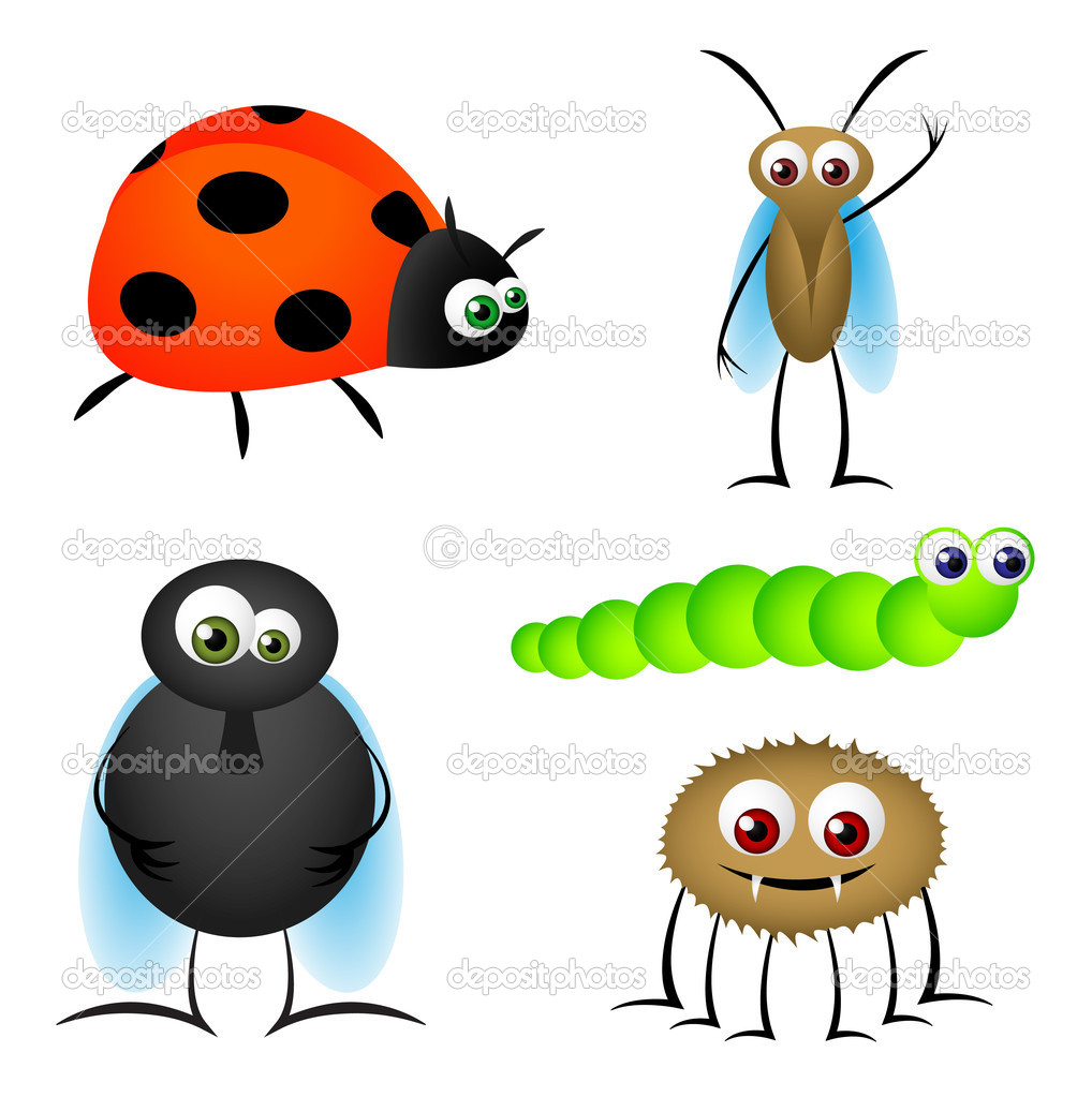 Insect Cartoons — Stock Vector © hollygraphic #8714526
