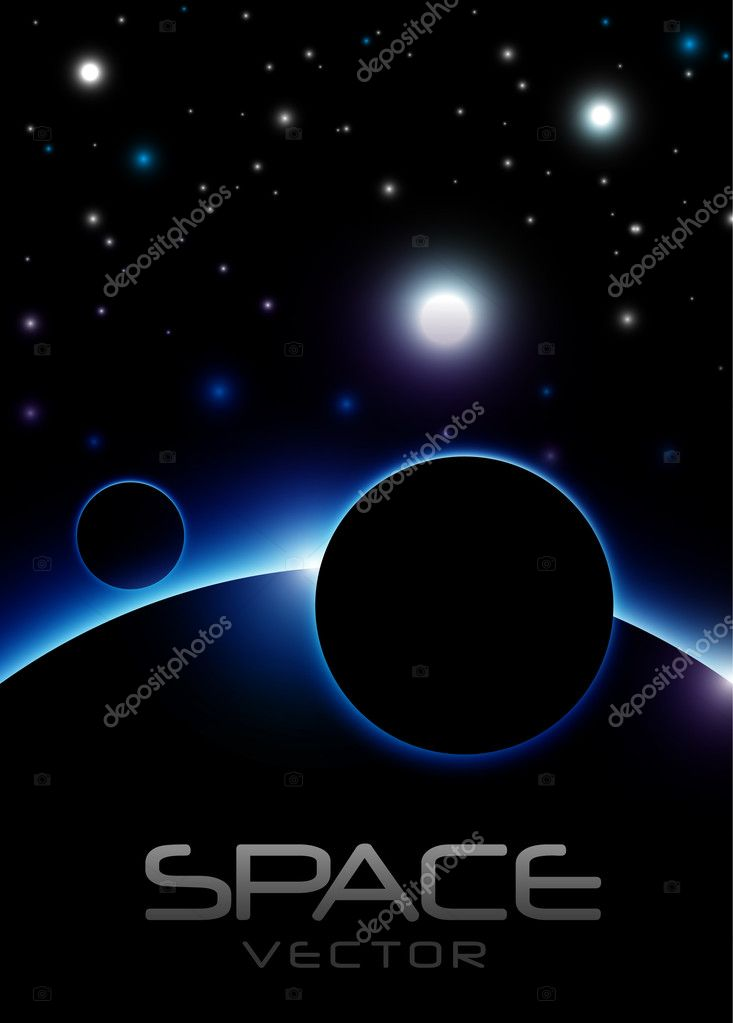 Blue Space Vector — Stock Vector #8714773