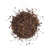 The pile of the dry tea leaves. — Stock Photo