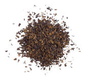 The pile of the dry black tea leaves. — Stock Photo