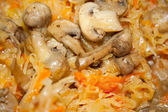 Fried cabbage with mushrooms. — Stock Photo