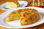 Tortilla, spanish omelet — Stock Photo