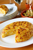 Tortilla, spanish potato omelet — Stock Photo