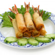 Shrimp spring rolls, thai cuisine — Stock Photo