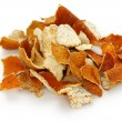 Chenpi,dried tangerine peel,traditional chinese herbal medicine - Stock Photo