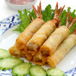 Shrimp spring rolls, thai cuisine — Stock Photo #8745891