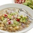 Pozole, mexican soup cuisine — Stock Photo #8746101