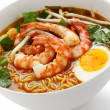 Prawn mee, prawn noodles — Stock Photo #8858734