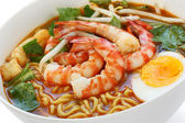 Prawn mee, prawn noodles — Stock Photo