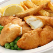 Stock Photo: Fish and chips, british food