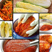 Making kimchi process, korean food — 图库照片