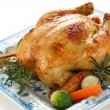 Stock Photo: Roasted chicken