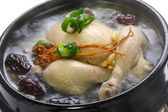 Steaming samgyetang — Stock Photo