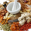 Traditional chinese herbal medicine — Stock Photo