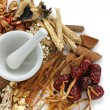Traditional chinese herbal medicine - Stock Photo