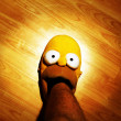 Постер, плакат: Homer Simpson Slipper