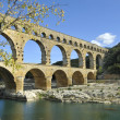 Roman aqueduct Pont du Gard, France - Stock Photo