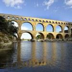 Roman aqueduct Pont du Gard, France — Stock Photo #8288588