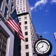 Classic style clock on Fifth Ave. in Manhattan. — Stock Photo