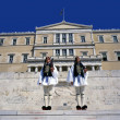 Evzones the presidential ceremonial guards in Greece — Stock Photo