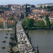 Stock Photo: Charles Bridge over Vltavriver in Prague