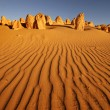 Pinnacles desert in Western Australia — Stock Photo