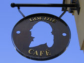 Sign of the Goethe Cafe — Stock Photo