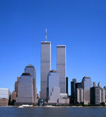NYC Skyline With The Twin Towers — Stock Photo