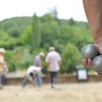 Playing jeu de boules — Stock Photo #8348043
