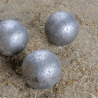 Playing jeu de boules — Stock Photo #8348077