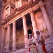 Military guards at the Treasury in Petra, Jordan. — Stock Photo #8348265