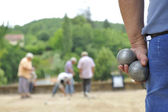 Playing jeu de boules — Stock Photo