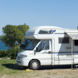 Camper at seaside — Stock Photo #8371523