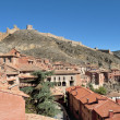 Stock Photo: Panoramic view of village of Albarrcin in Teruel, Spain.