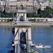 The Chain bridge in Budapest,Hungary — Stockfoto