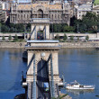 The Chain bridge in Budapest,Hungary — Stock Photo