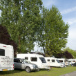 Caravans and campers at camping site — Stock Photo