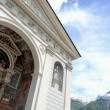 Aosta (Italy) - Cathedral facade — Stock Photo