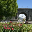 Roman Arch of Augustus in Aosta,Italy — Stockfoto