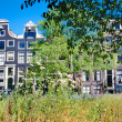 Amsterdam houses in summer — Stock Photo