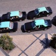 Stock Photo: Taxis waiting for customers