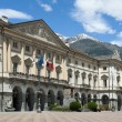 Town hall of Aosta in Italy. - Stock Photo