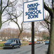 Drug free school zone — Stock Photo