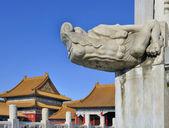 Head of dragon in Forbidden City ,Beijing China — Stock Photo
