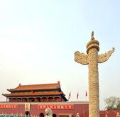 China Totem Cloumn at sunset — Stock Photo