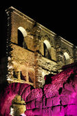 Old Roman theater by night — Stock Photo