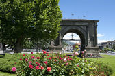 Roman Arch of Augustus in Aosta,Italy — Stock Photo