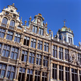 A view of the Grand Place in Brussels, Belgium. — Stock Photo