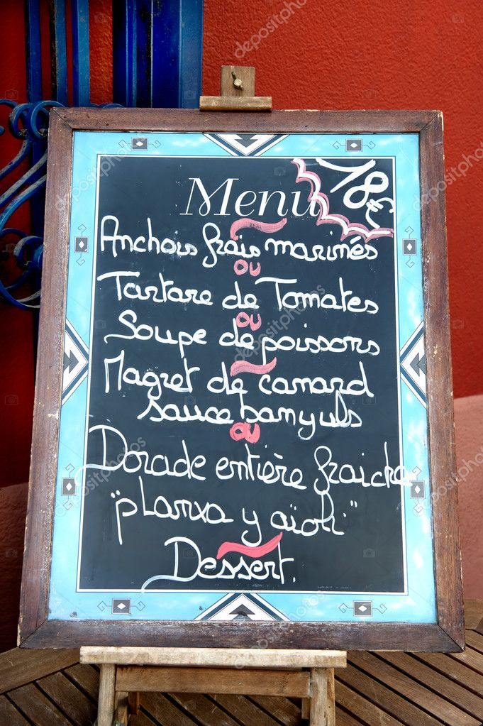 Menu signe ext rieur dun restaurant photographie jehoede for Exterieur restaurant