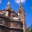 Exterior of the Giralda tower - 图库照片